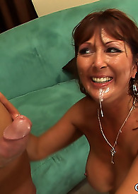 Naughty MILF cougar enjoys getting boned by a big cocked younger stud